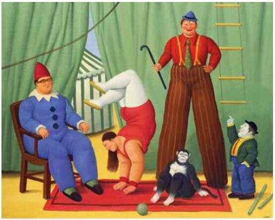 Fernando Botero - Circus People with Monkey