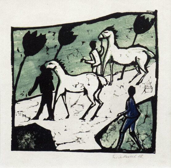 Erich Heckel - Weiße Pferde
