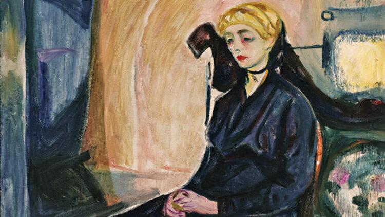 Edvard Munch - Sitzende junge Frau