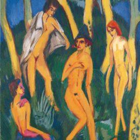 Ernst Ludwig Kirchner - Vier Akte unter Baeumen