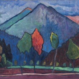 Gabriele Muenter - Allee vor Berg