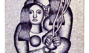 Leger Femmes aux fleurs sur fond gris 1927 364497 l