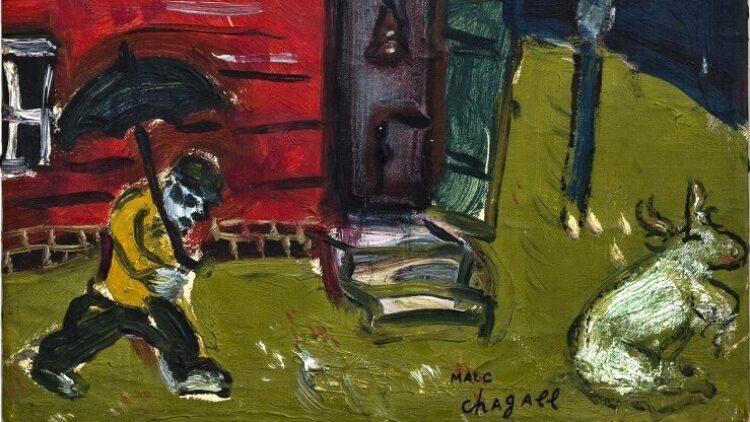 Marc Chagall - L homme au parapluie