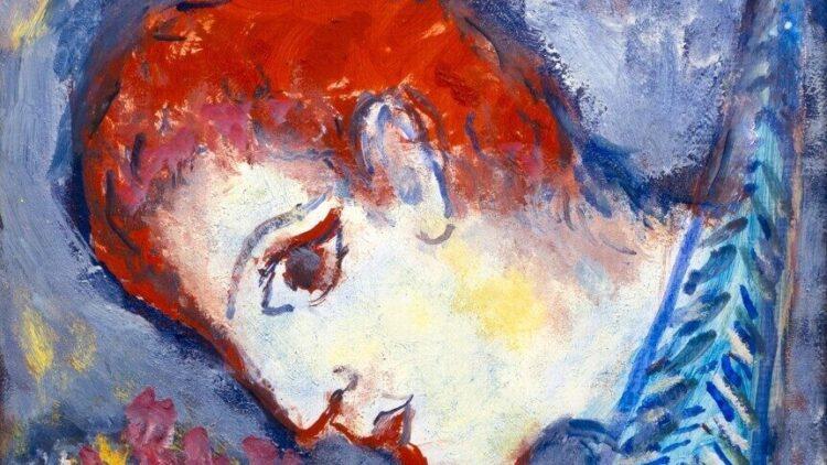 Marc Chagall - Le peintre a la Tour Eiffel