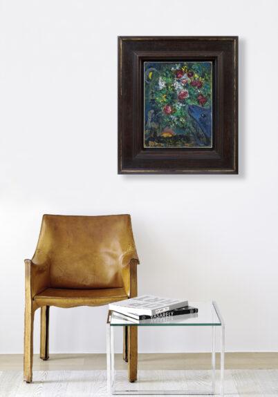 Marc Chagall - Ane bleu aux fleurs