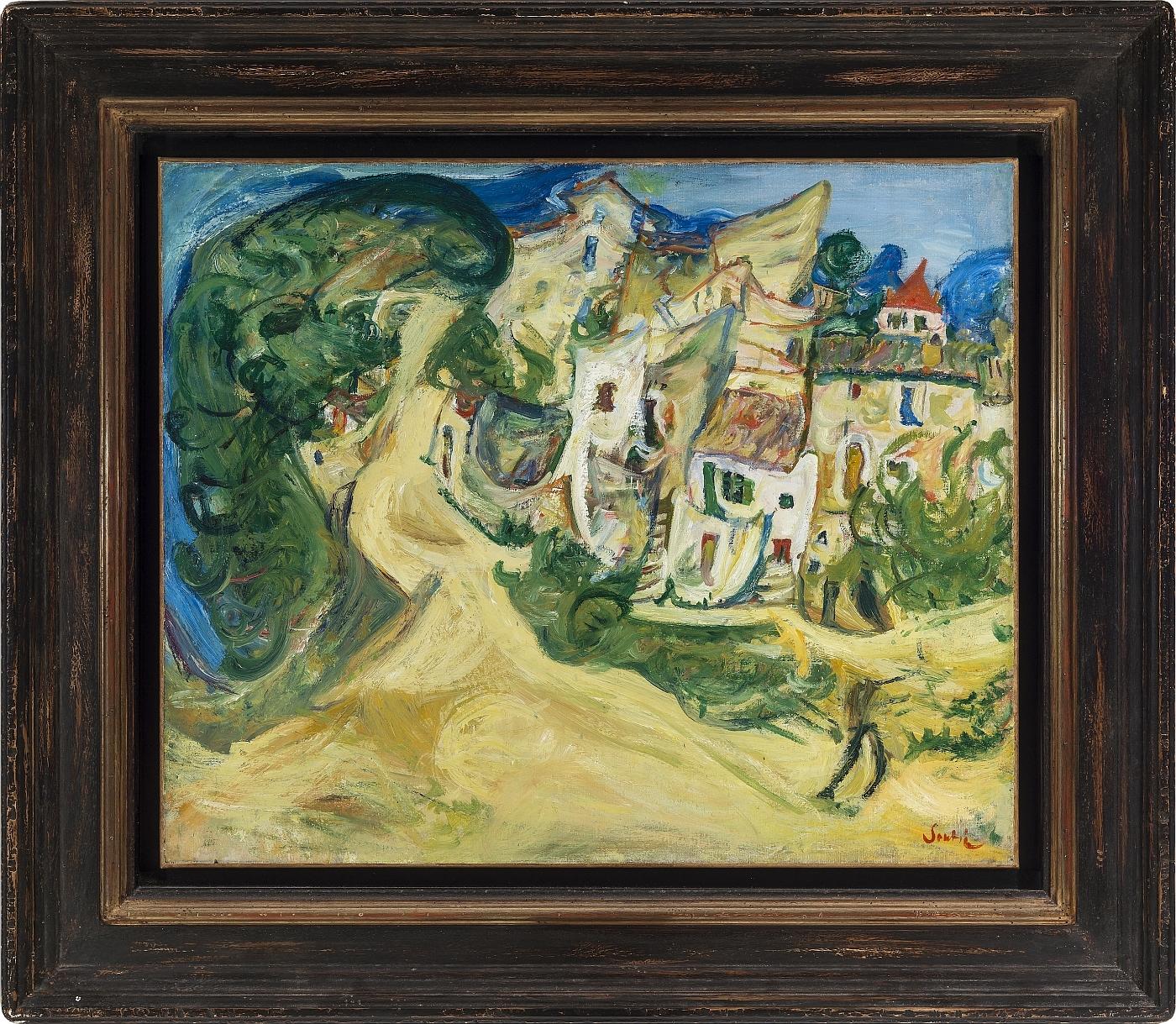 Chaim Soutine - Landscape at Cagnes 2/3