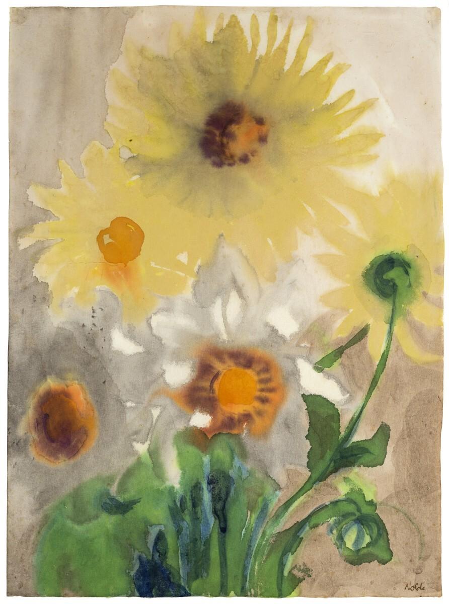 Emil Nolde - Yellow Dahlias