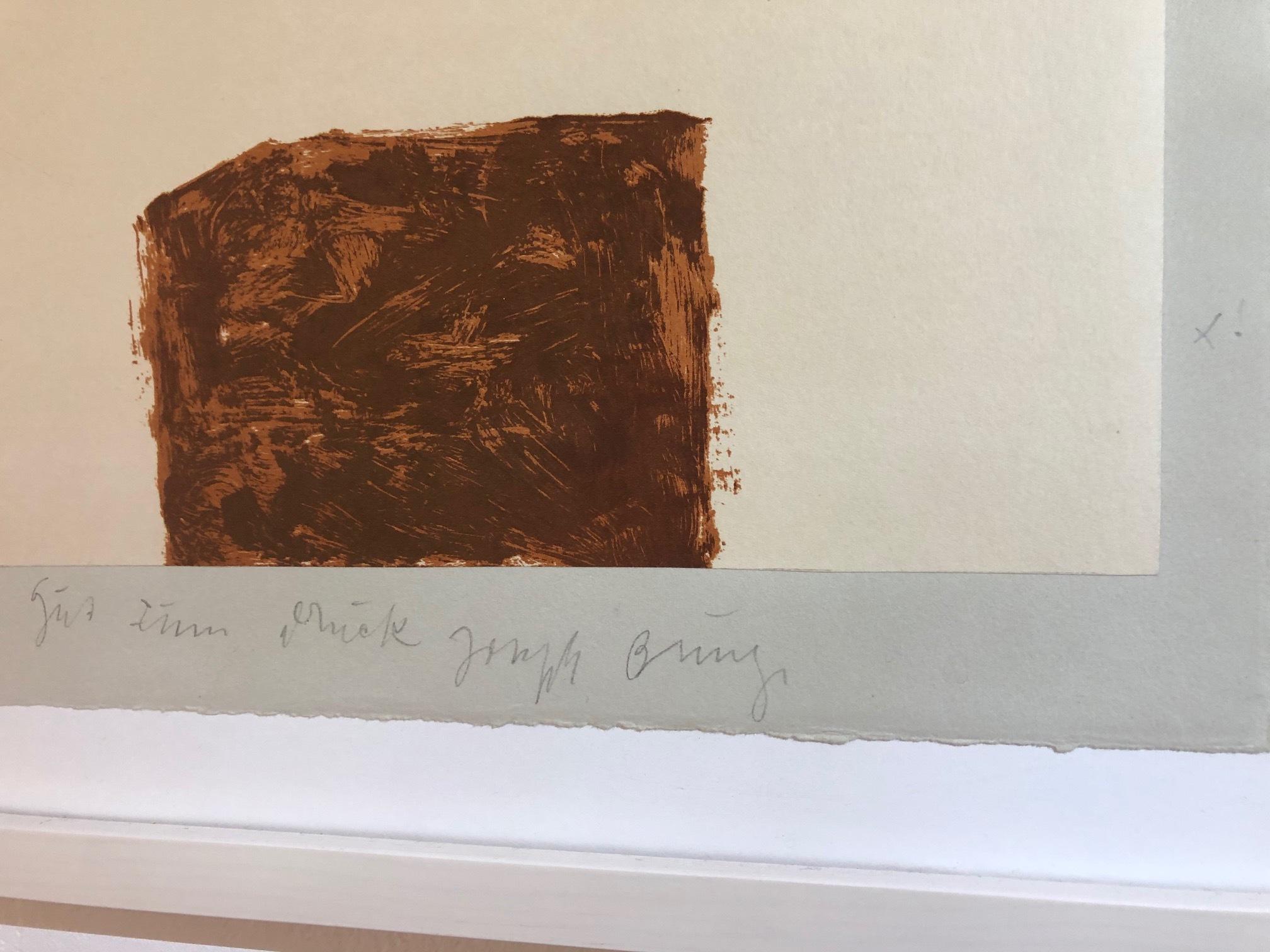 Joseph Beuys - Suite Schwurhand - Wandernde Kiste 4 2/2