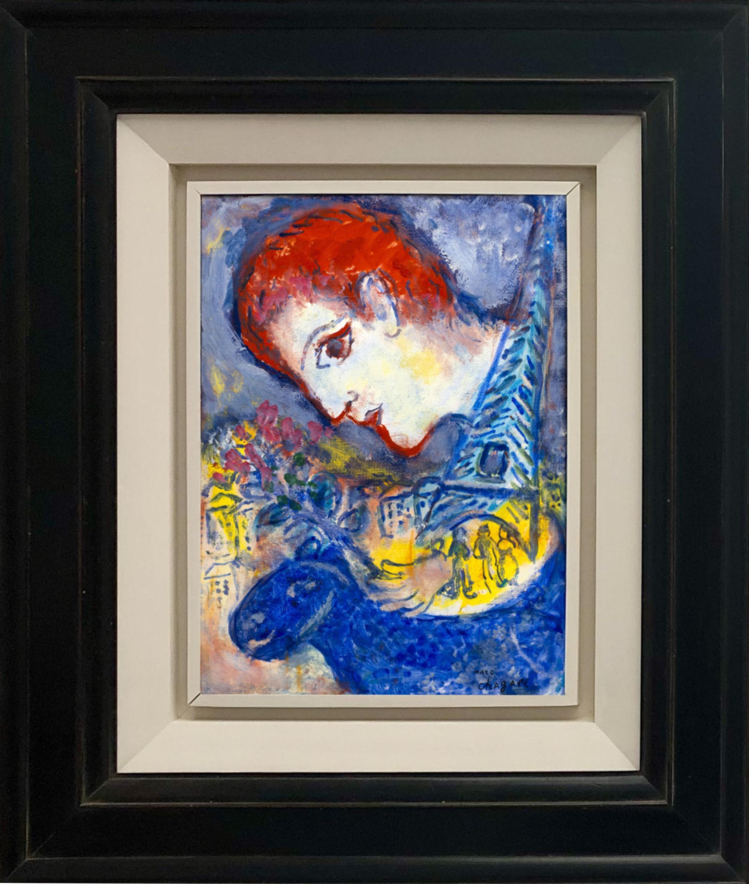 Marc Chagall - Le peintre à la Tour Eiffel 2/2
