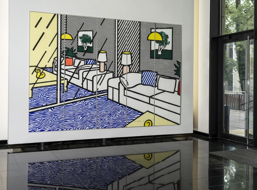 Roy Lichtenstein - Wallpaper with Blue Floor Interior 2/2