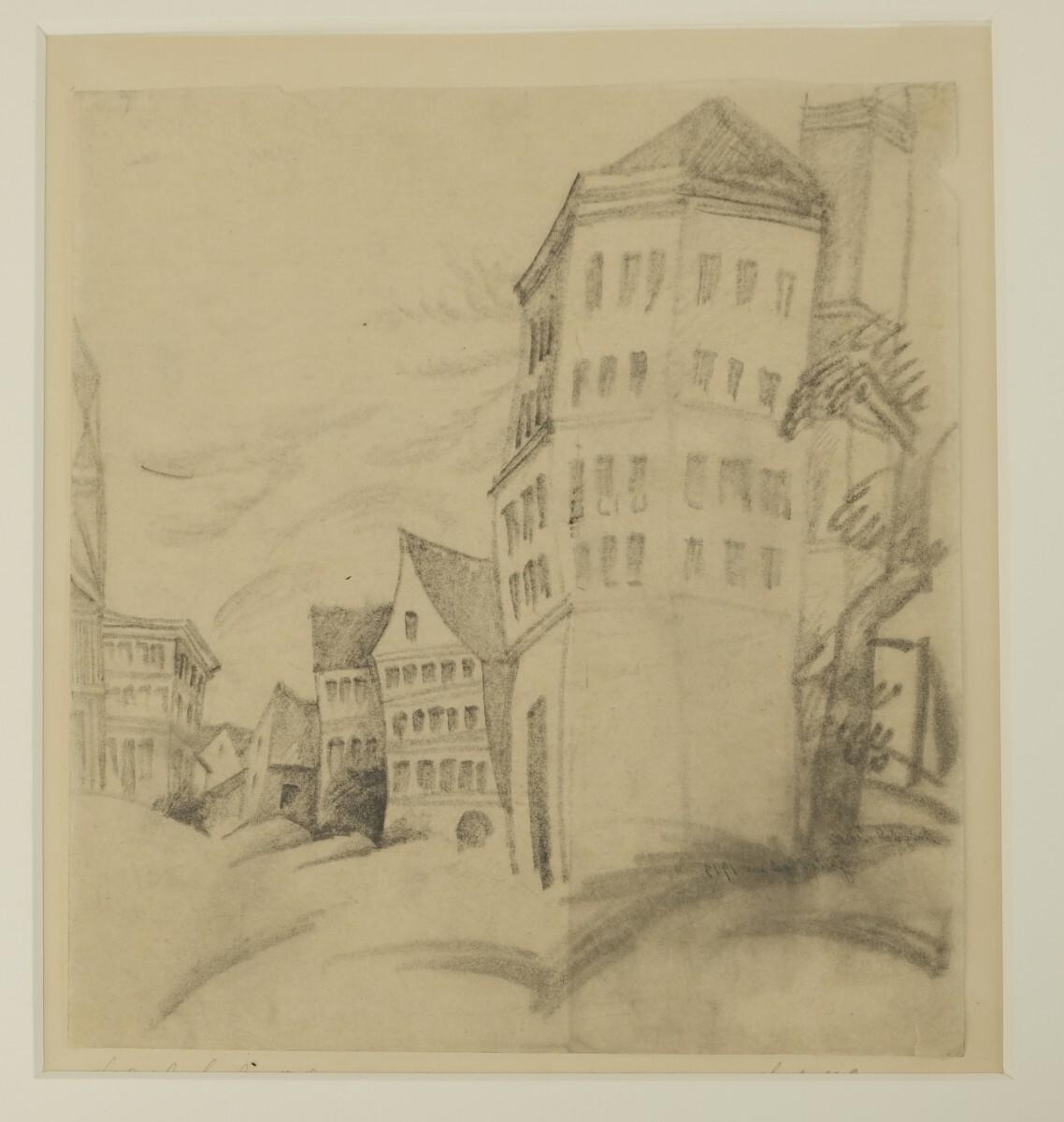 August Macke - Giebelhäuser