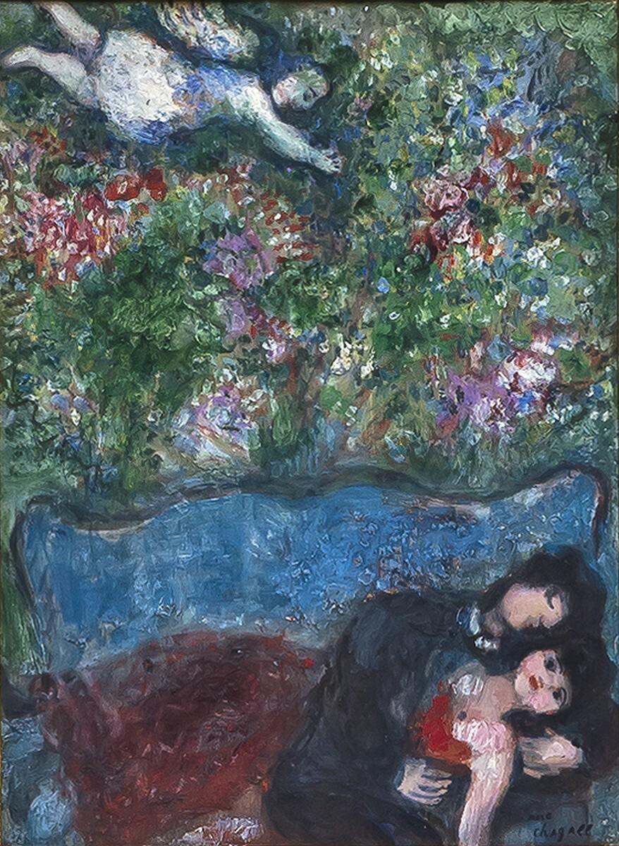 Marc Chagall - Sur le divan 1/2