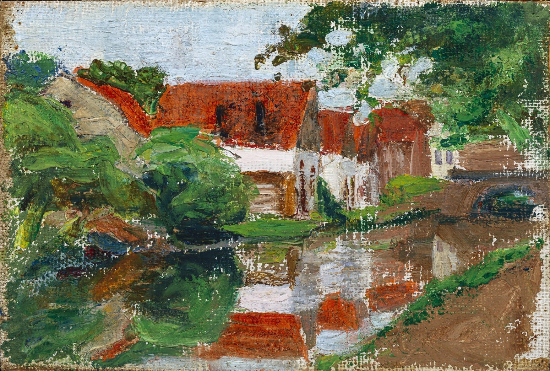 Gabriele Münter - Houses by the River