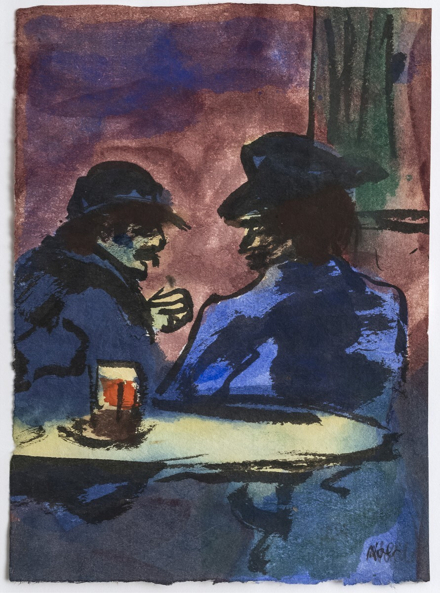 Emil Nolde - Pub Scene with Two Men at The Table 1/4