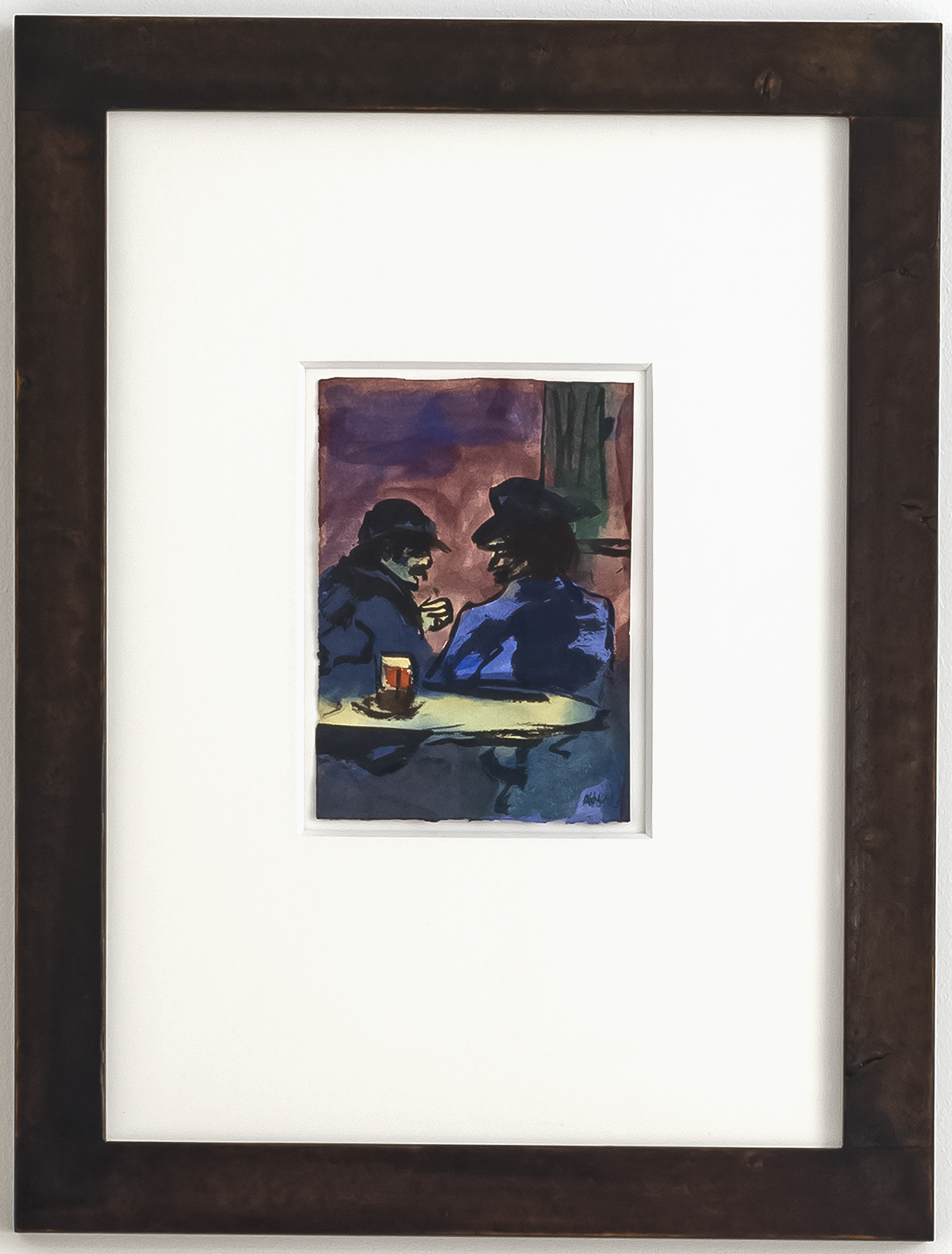 Emil Nolde - Pub Scene with Two Men at The Table 2/4