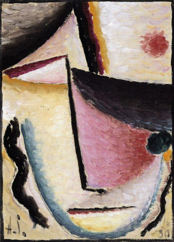Alexej von Jawlensky - Abstrakter Kopf: Schräge Augen