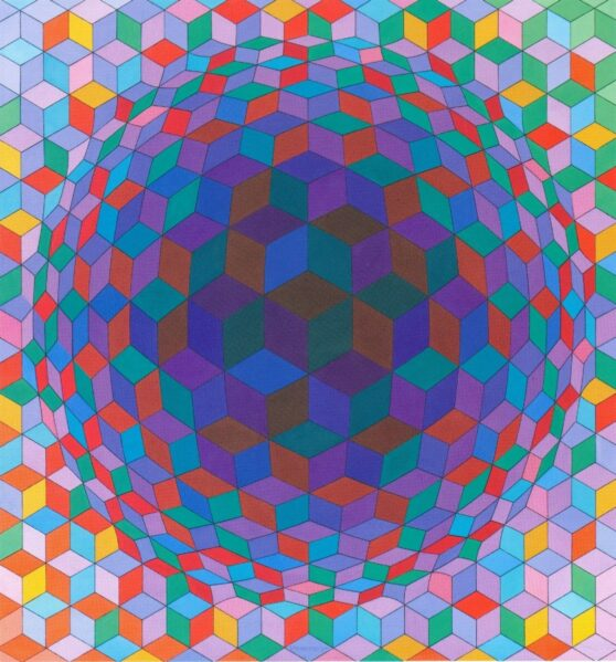 Victor Vasarely - Cheyt-E 1/2