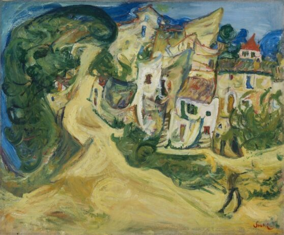 Chaim Soutine - Landscape at Cagnes 1/2