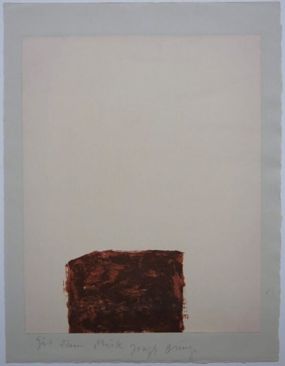Joseph Beuys - Suite Schwurhand - Wandernde Kiste 4 1/2
