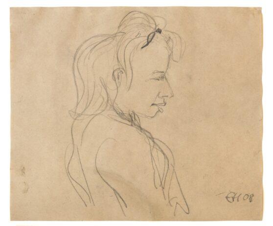 Erich Heckel - Blondes Mädchen