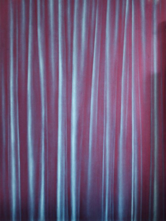 Simon Schubert - Untitled (Curtain Phthalo turquois)