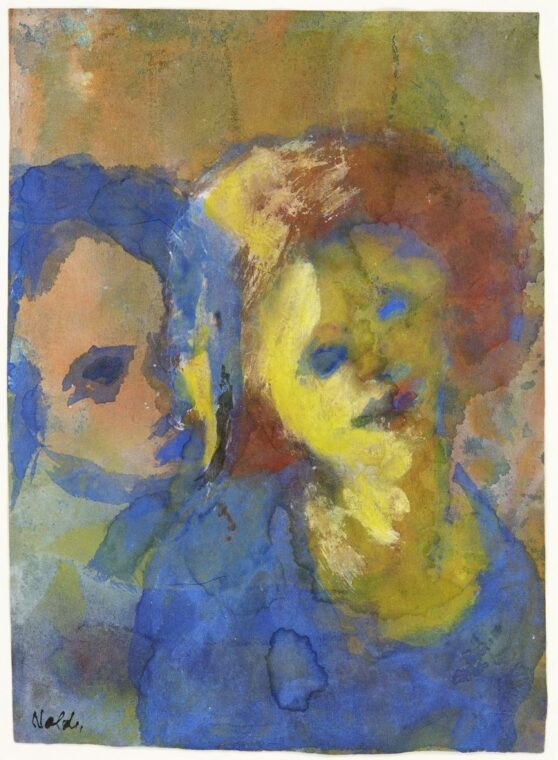 Emil Nolde - Zwei Frauen (blassblau)