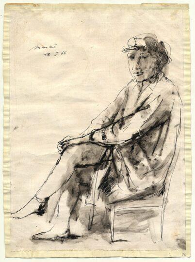 Giacomo Manzu - Frauenportrait