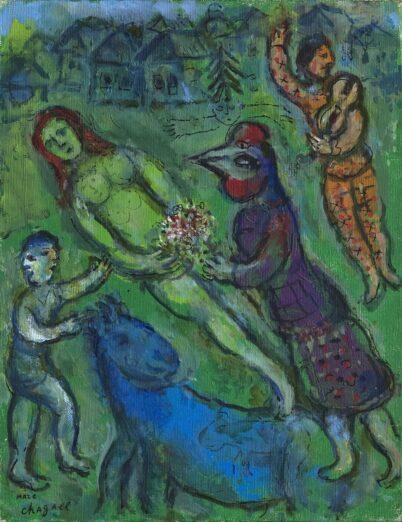 Marc Chagall - Nu vert au village