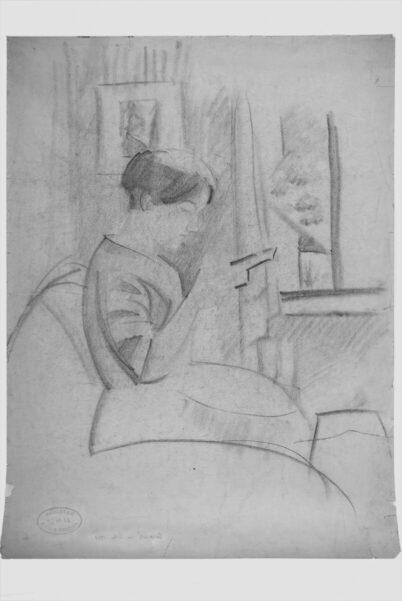 August Macke - Elisabeth in the bay window