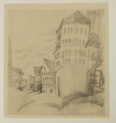 August Macke - Gabled Houses